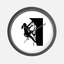 Climbing woman girl Wall Clock