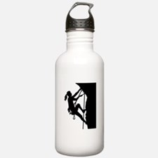 Climbing woman girl Water Bottle