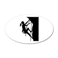 Climbing woman girl Wall Sticker