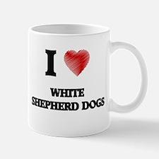 I love White Shepherd Dogs Mugs