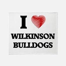 I love Wilkinson Bulldogs Throw Blanket