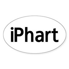 iPhart Oval Decal