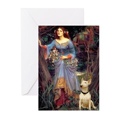 Ophelia / Bull Ter Greeting Cards (Pk of 20)