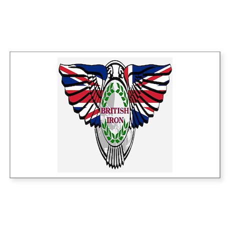 British Iron Motorcycle Rectangle Sticker