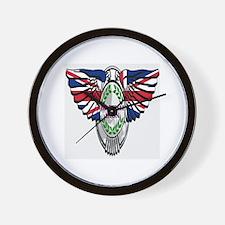 British Iron Motorcycle Wall Clock