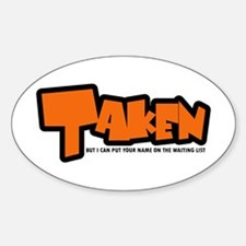 Taken Oval Decal