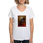 Lincoln / Cocker Women's V-Neck T-Shirt