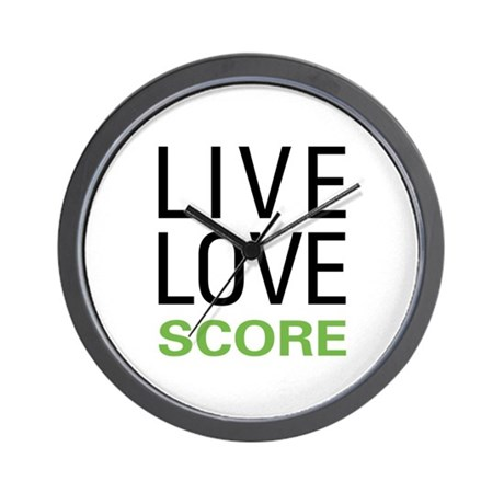 Live Love Score Wall Clock
