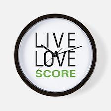 Live Love Score Wall Clock