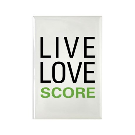 Live Love Score Rectangle Magnet (10 pack)