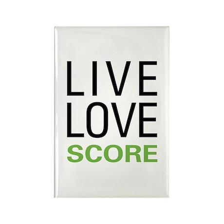 Live Love Score Rectangle Magnet (100 pack)