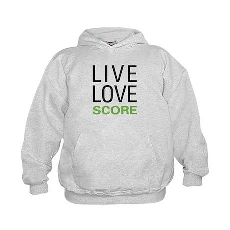 Live Love Score Kids Hoodie