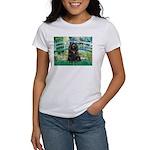 Bridge / Black Cocker Spaniel Women's T-Shirt
