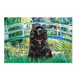 Bridge / Black Cocker Spaniel Postcards (Package o