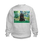 Bridge / Black Cocker Spaniel Kids Sweatshirt