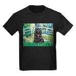 Bridge / Black Cocker Spaniel Kids Dark T-Shirt