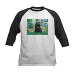 Bridge / Black Cocker Spaniel Kids Baseball Jersey