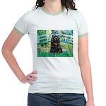 Bridge / Black Cocker Spaniel Jr. Ringer T-Shirt