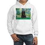 Bridge / Black Cocker Spaniel Hooded Sweatshirt