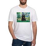 Bridge / Black Cocker Spaniel Fitted T-Shirt