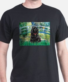 Bridge / Black Cocker Spaniel T-Shirt