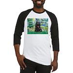 Bridge / Black Cocker Spaniel Baseball Jersey
