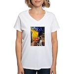 Cafe / G Shepherd Women's V-Neck T-Shirt