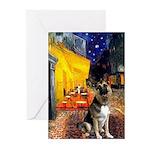 Cafe / G Shepherd Greeting Cards (Pk of 20)