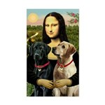 Mona / Labrador Sticker (Rectangle)