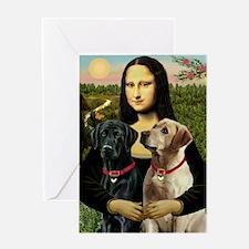 Mona / Labrador Greeting Card
