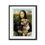 Mona / Labrador Framed Panel Print