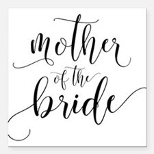 """Mother of the Bride Typo Square Car Magnet 3"""" x 3"""""""