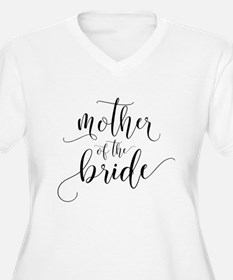 Mother of the Bride Typography Plus Size T-Shirt