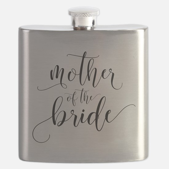 Mother of the Bride Typography Flask