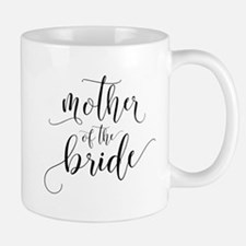 Mother of the Bride Typography Mugs