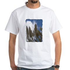 Pampas Grass - Burned Edge White T-Shirt