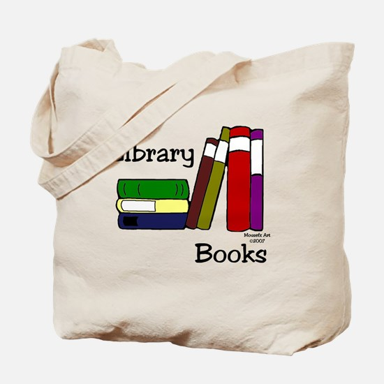 LibraryBooksTote.png Tote Bag
