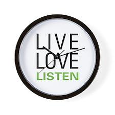 Live Love Listen Wall Clock