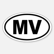 Martha's Vineyard MV Oval Decal