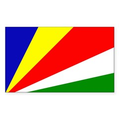 Seychelles Rectangle Decal
