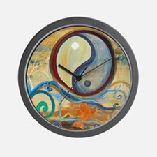 Ying Yang art Wall Clock