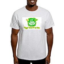 Flippin' Luck O' the Irish Ash Grey T-Shirt