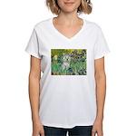 Irises / Westie Women's V-Neck T-Shirt