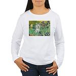 Irises / Westie Women's Long Sleeve T-Shirt