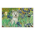 Irises / Westie Sticker (Rectangle)