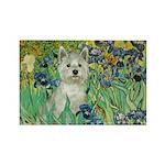 Irises / Westie Rectangle Magnet (10 pack)