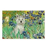 Irises / Westie Postcards (Package of 8)