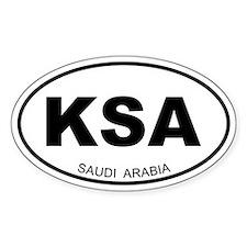 Saudi Arabia Oval Decal