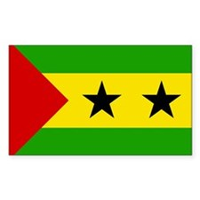 Sao Tome and Principe Rectangle Decal