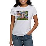 Lilies (#2)/Pug (#2) Women's T-Shirt